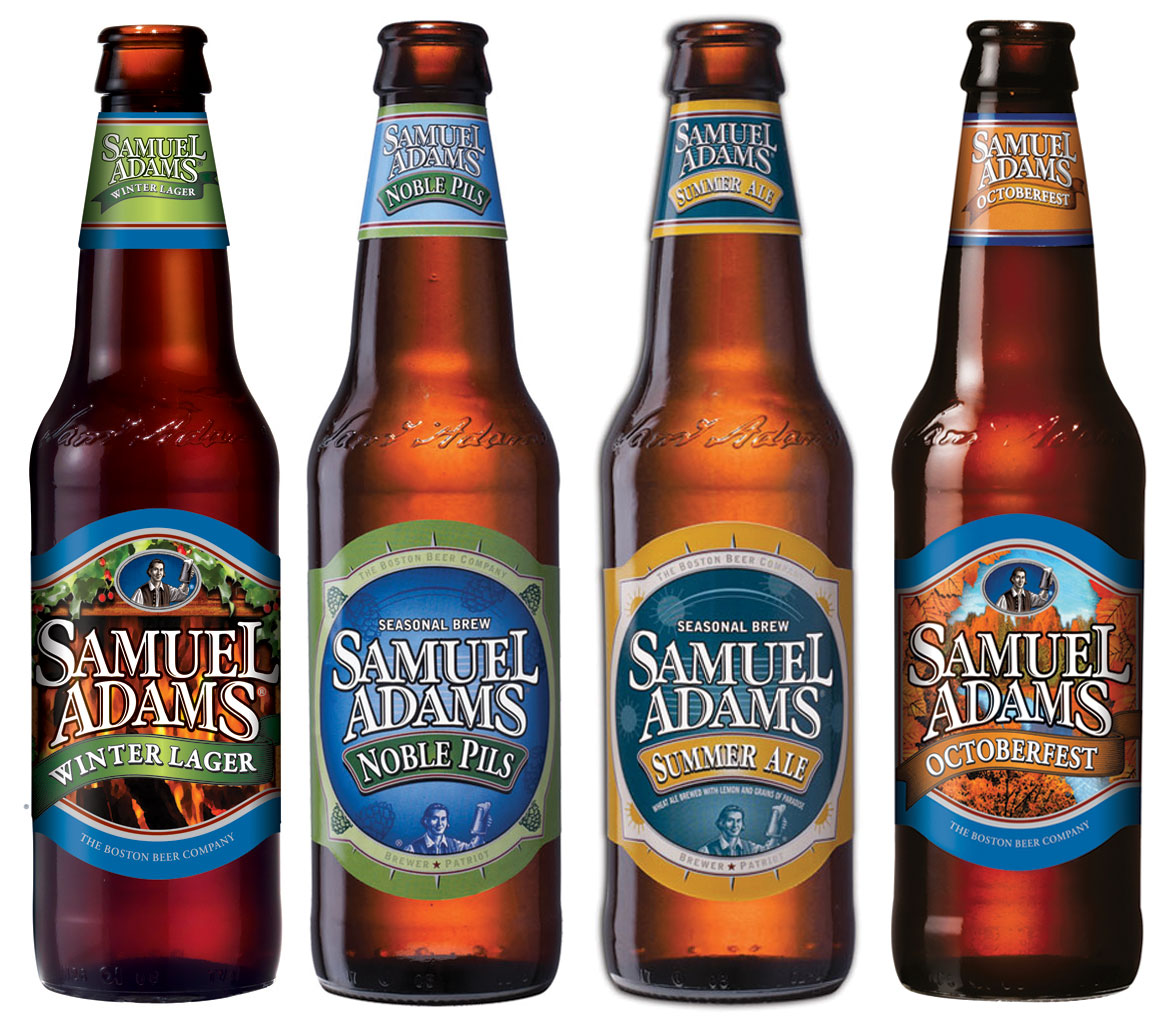 Samuel Adams Boston Lager, and Seasonals
